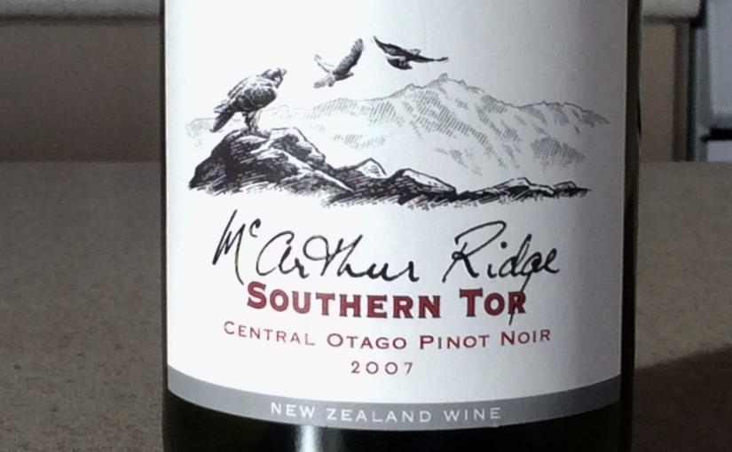 2007 McArthur Ridge Southern Tor Central Otago PinotNoir