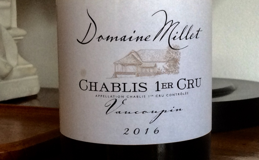 2016 Domaine Millet Chablis 1er Cru Vacoupin