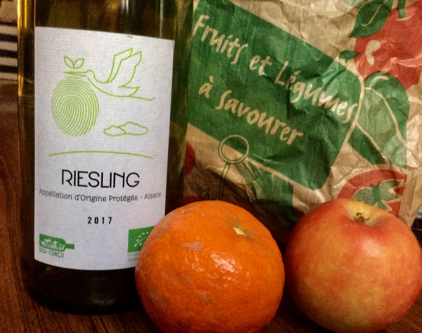 2017 Monoprix Supermarket Alsace Riesling put in the bottle by Ruhlman of Dambach la Ville