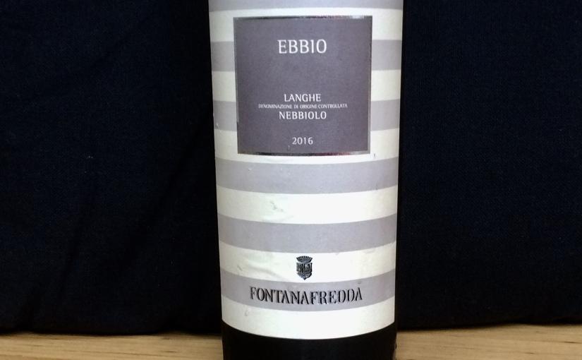 2016 Fontanafredda Ebbio LangheNebbiolo