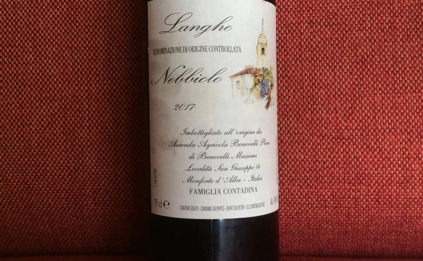 2017 Piero Benevelli LangheNebbiolo