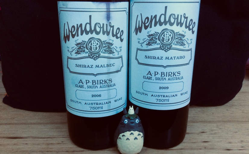 Pair of Wendourees. 2006 Shiraz Malbec and 2009 Shiraz Mataro.