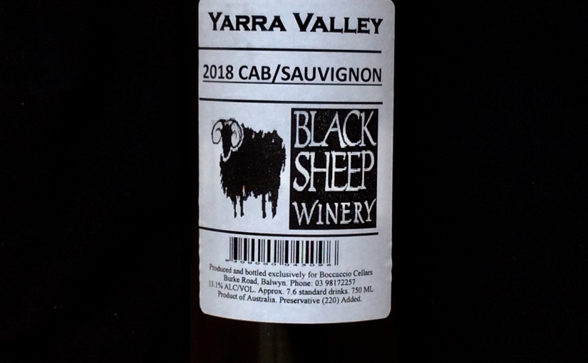 2018 Black Sheep Yarra Valley Cabernet Sauvignon