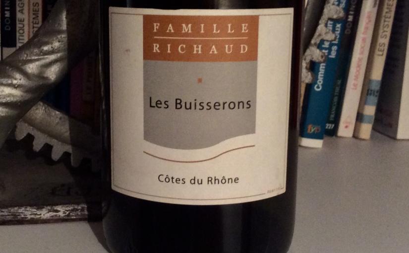 2018 Famille Marcel Richaud Côtes du Rhône LesBuisserons