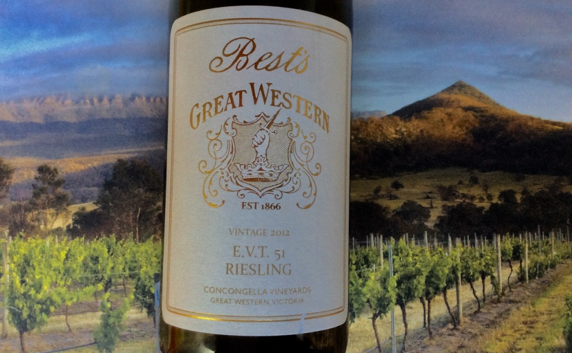 2012 Best's Great Western EVT 51 Riesling
