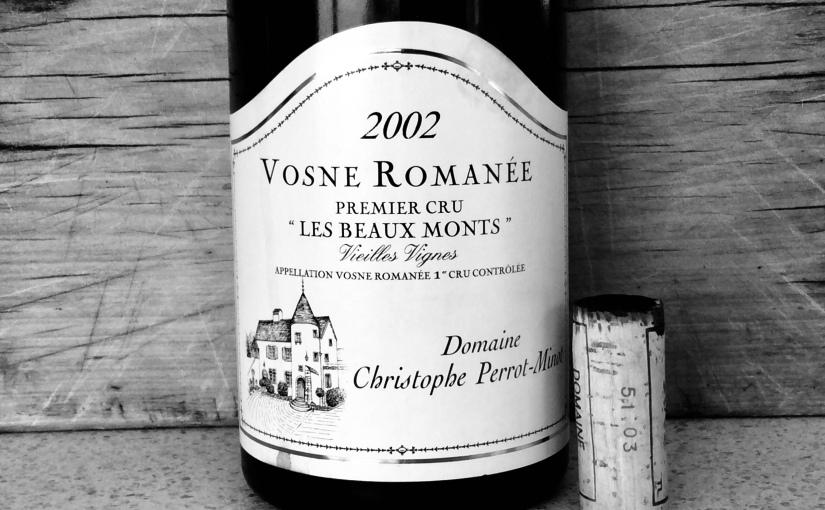 2002 Domaine Christophe Perrot Minot Vosne Romanée Les Beaux Monts 1erCru