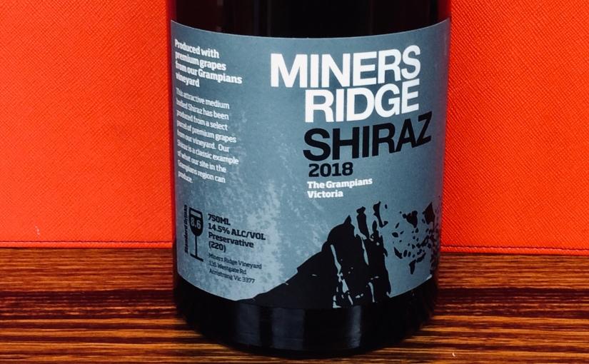 2018 Miners Ridge GrampiansShiraz
