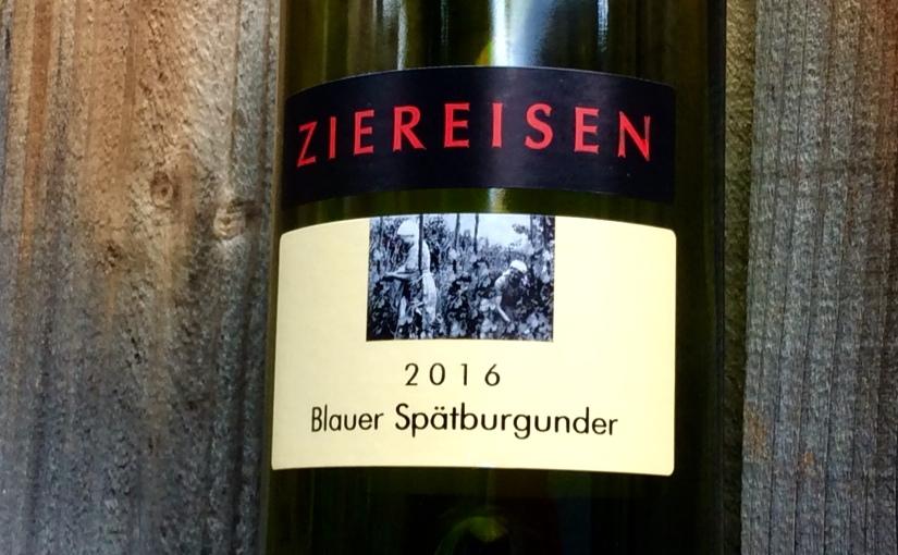 2016 Ziereisen BlauerSpätburgunder