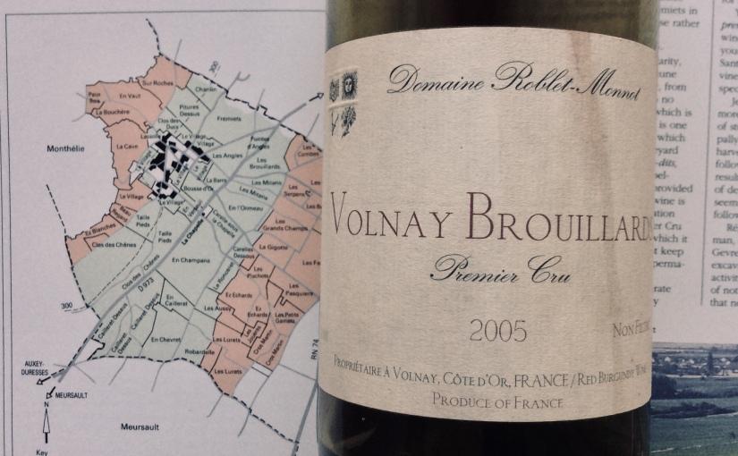 2005 Domaine Roblet Monnot Volnay 1er cruBrouillards